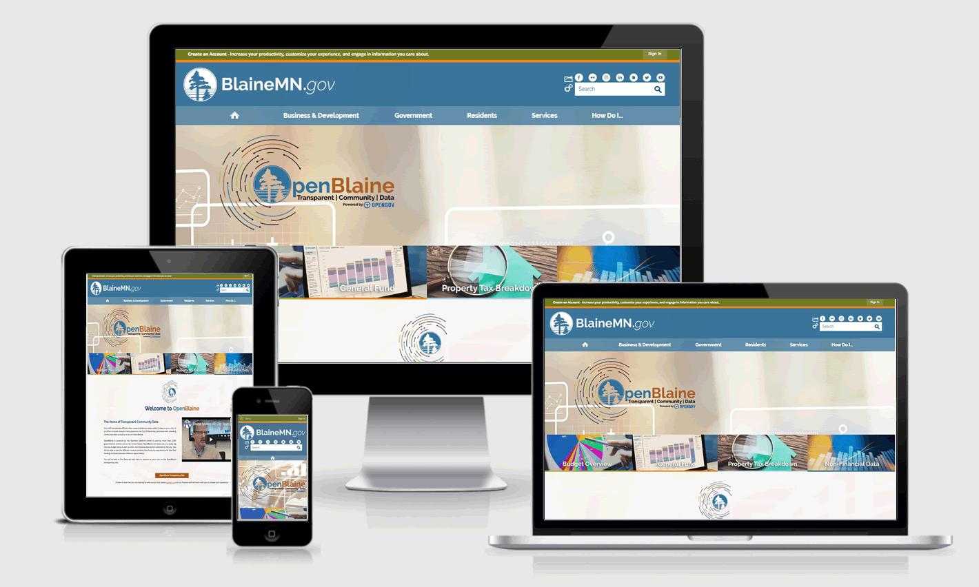 OpenBlaine Responsive Website Design