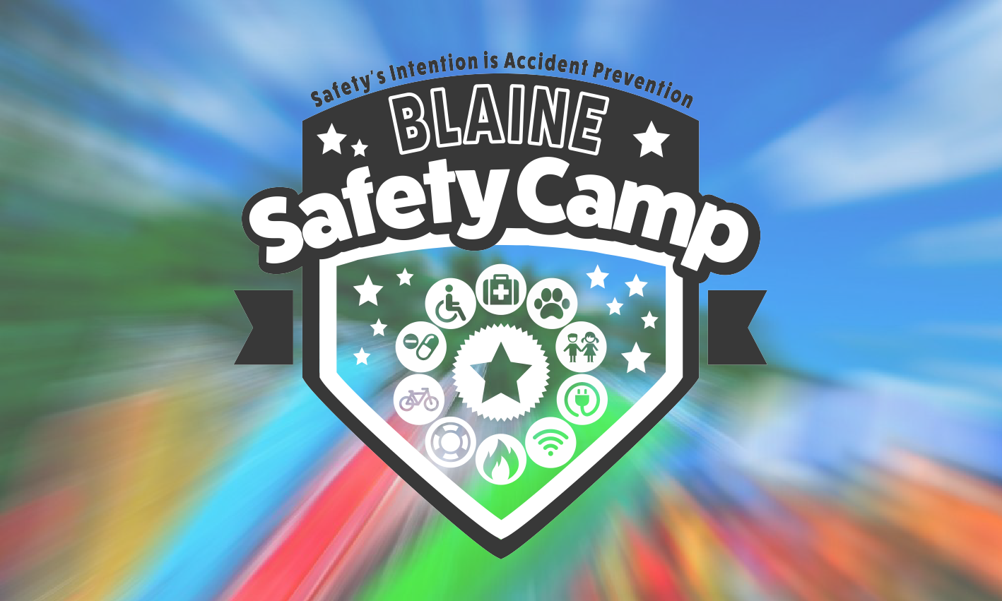 Safety Camp Full Color Logo Design