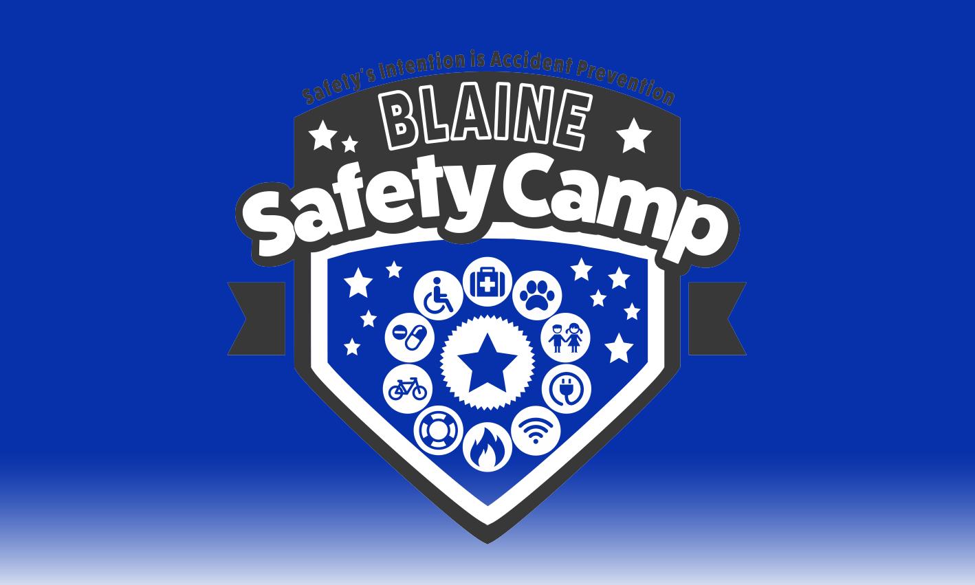 Safety Camp Blue Logo Design