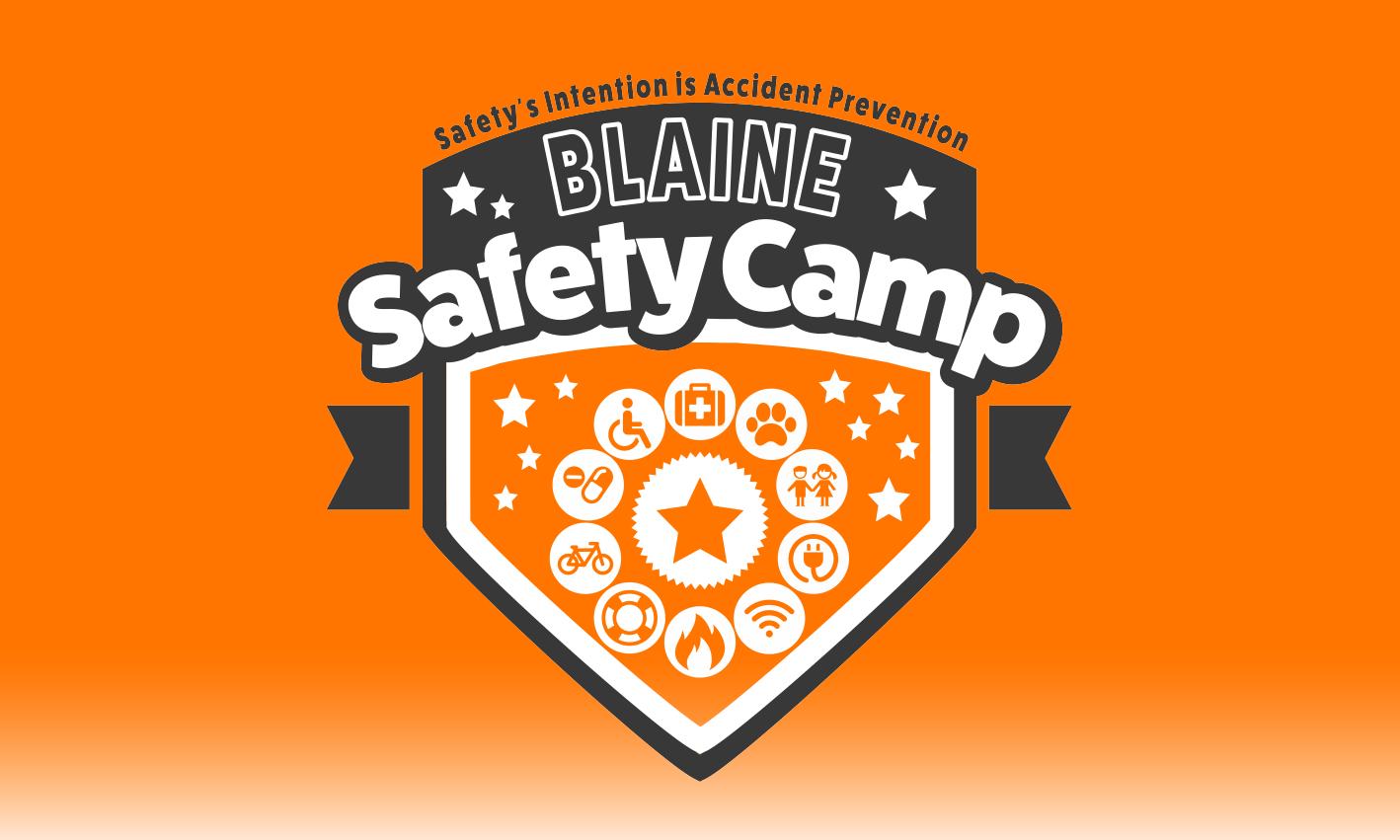 Safety Camp Orange Logo Design