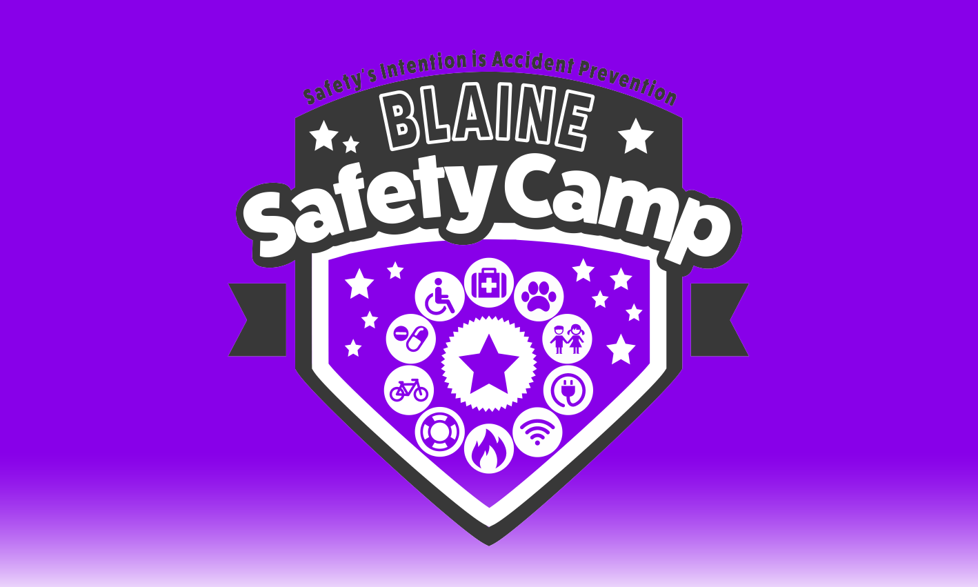 Safety Camp Purple Logo Design
