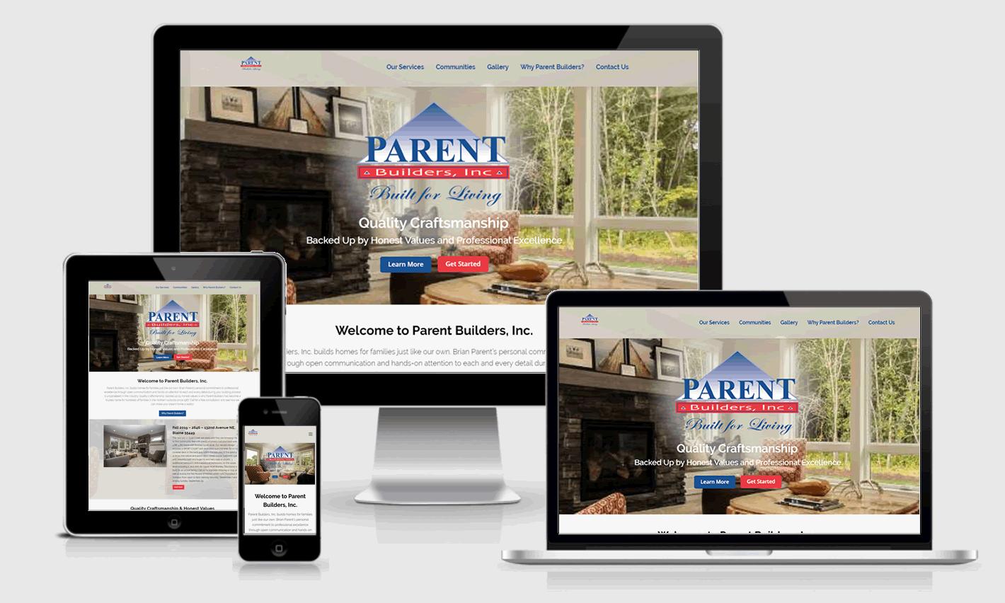 Parent Builders Responsive Website Design