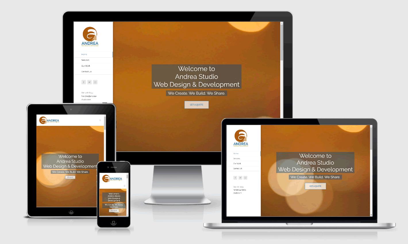 Andrea Studio Responsive Website Design