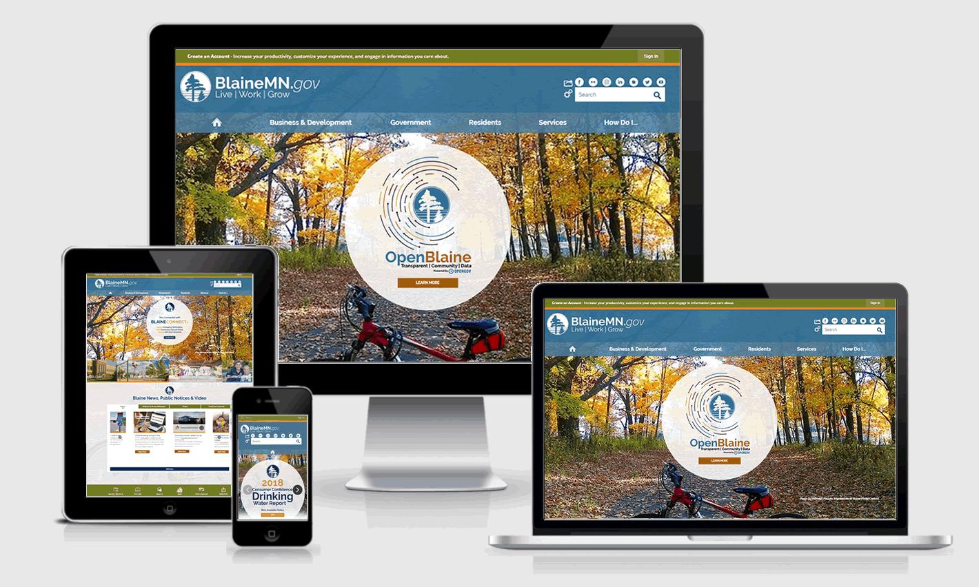 BlaineMN.gov Responsive Website Design
