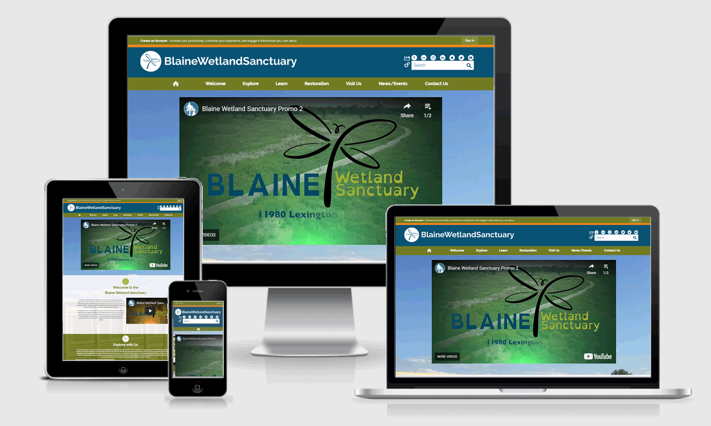 Blaine Wetland Sanctuary Responsive Website Design