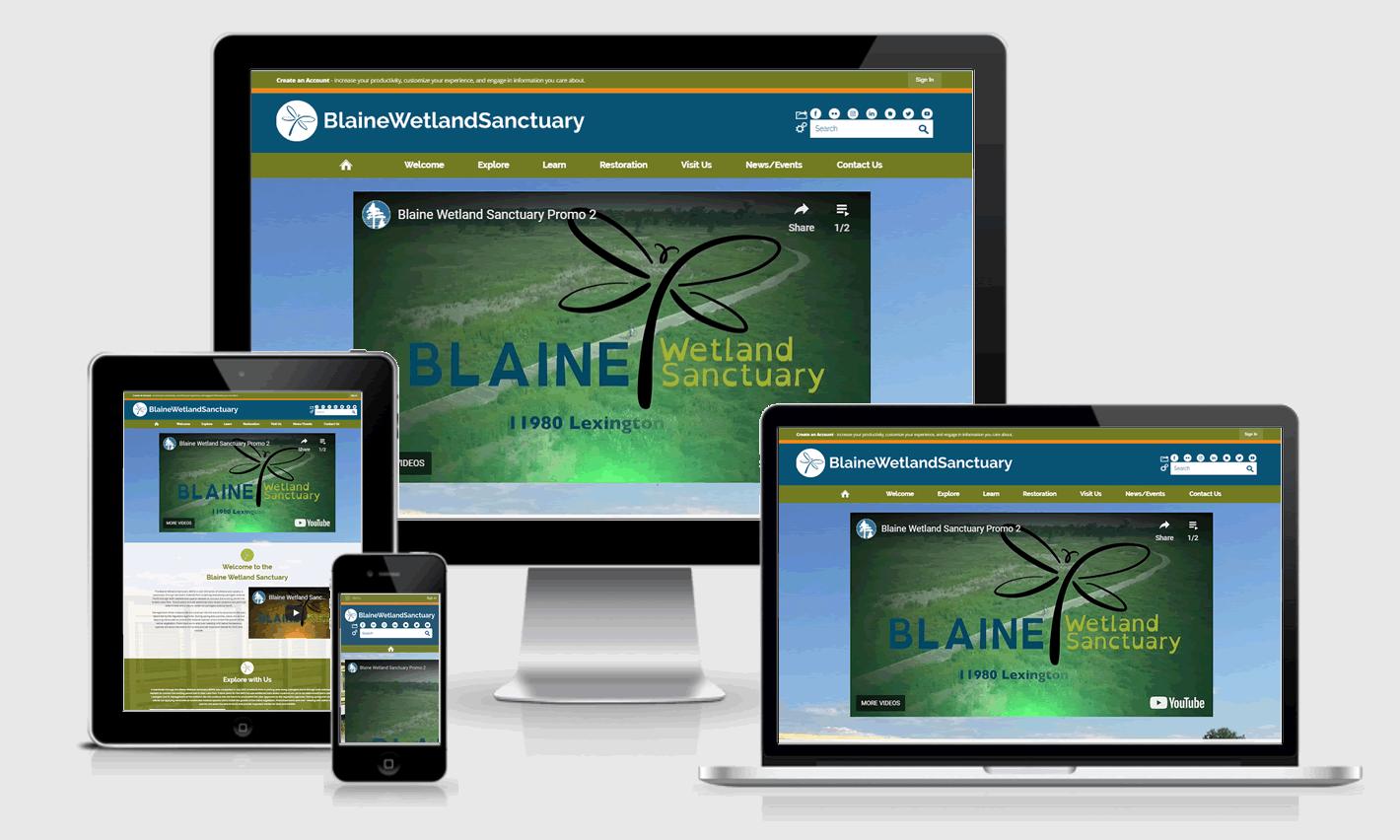 Blaine Wetland Sanctuary Responsive Website Design