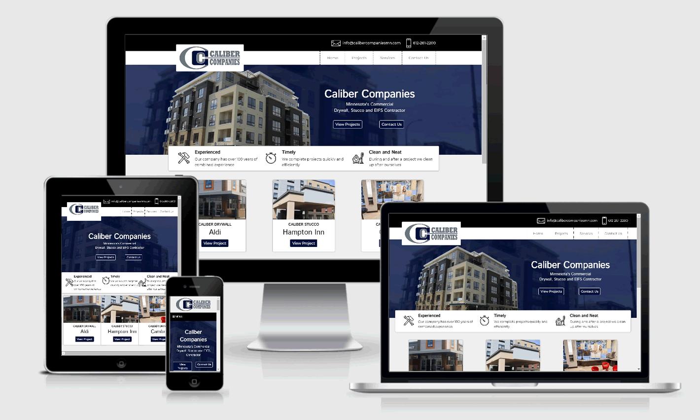 Caliber Companies Responsive Website Design