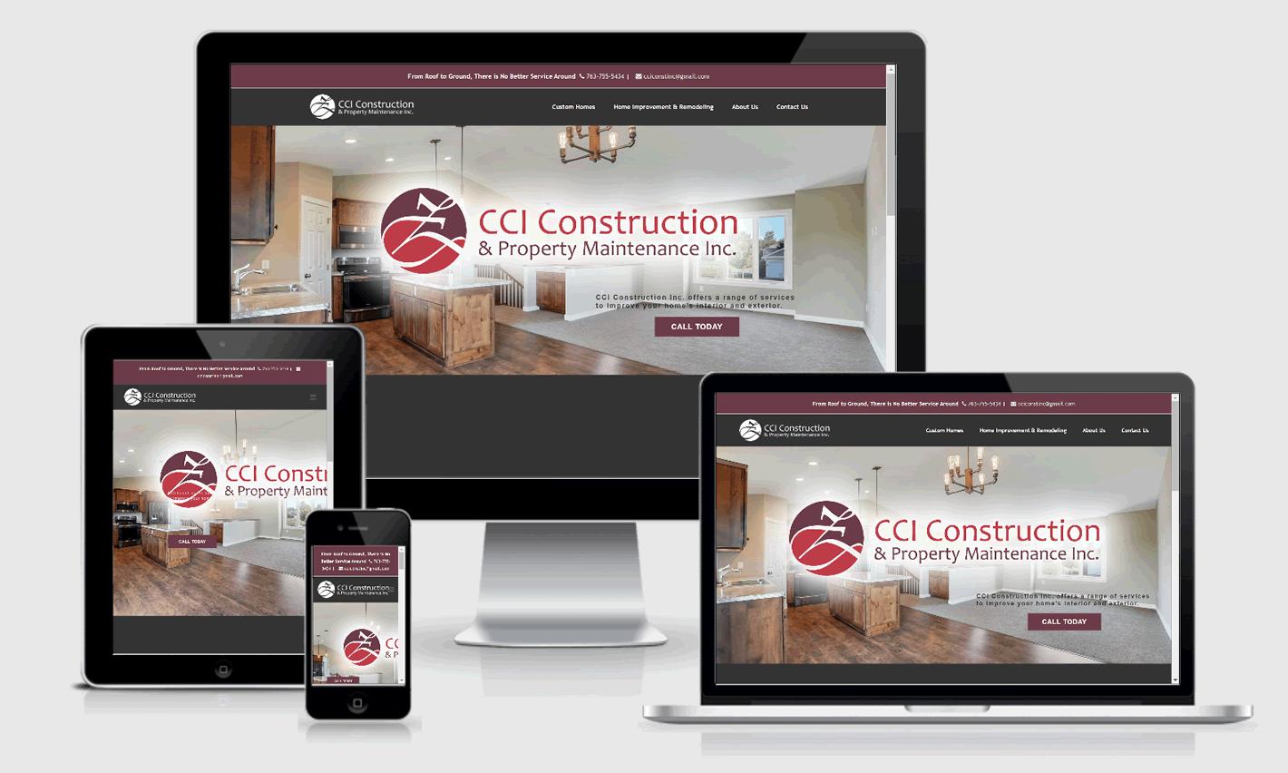 CCI Construction Responsive Website Design