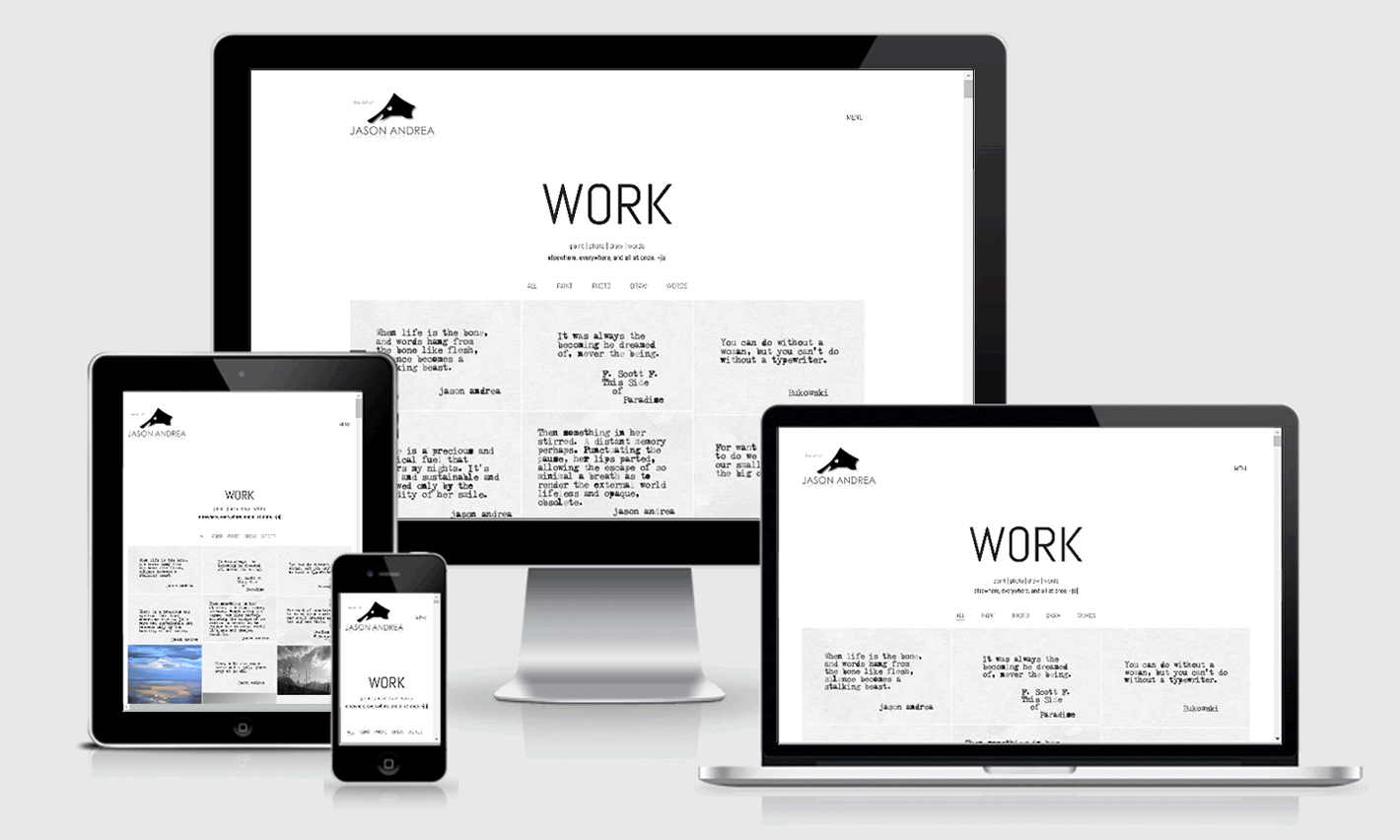 Jason Andrea Studio Responsive Website Design
