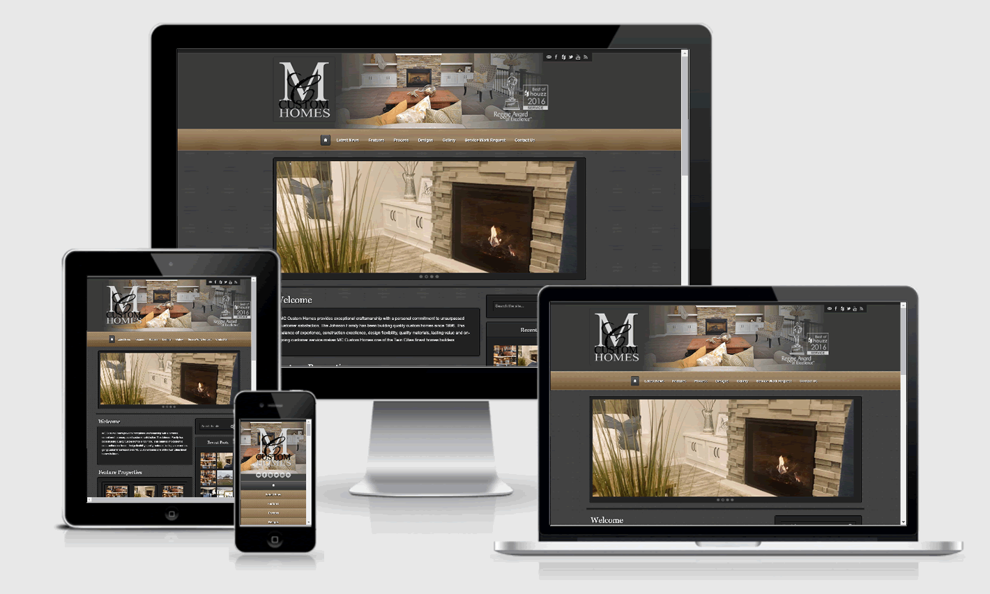 MC Custom Homes Responsive Website Design