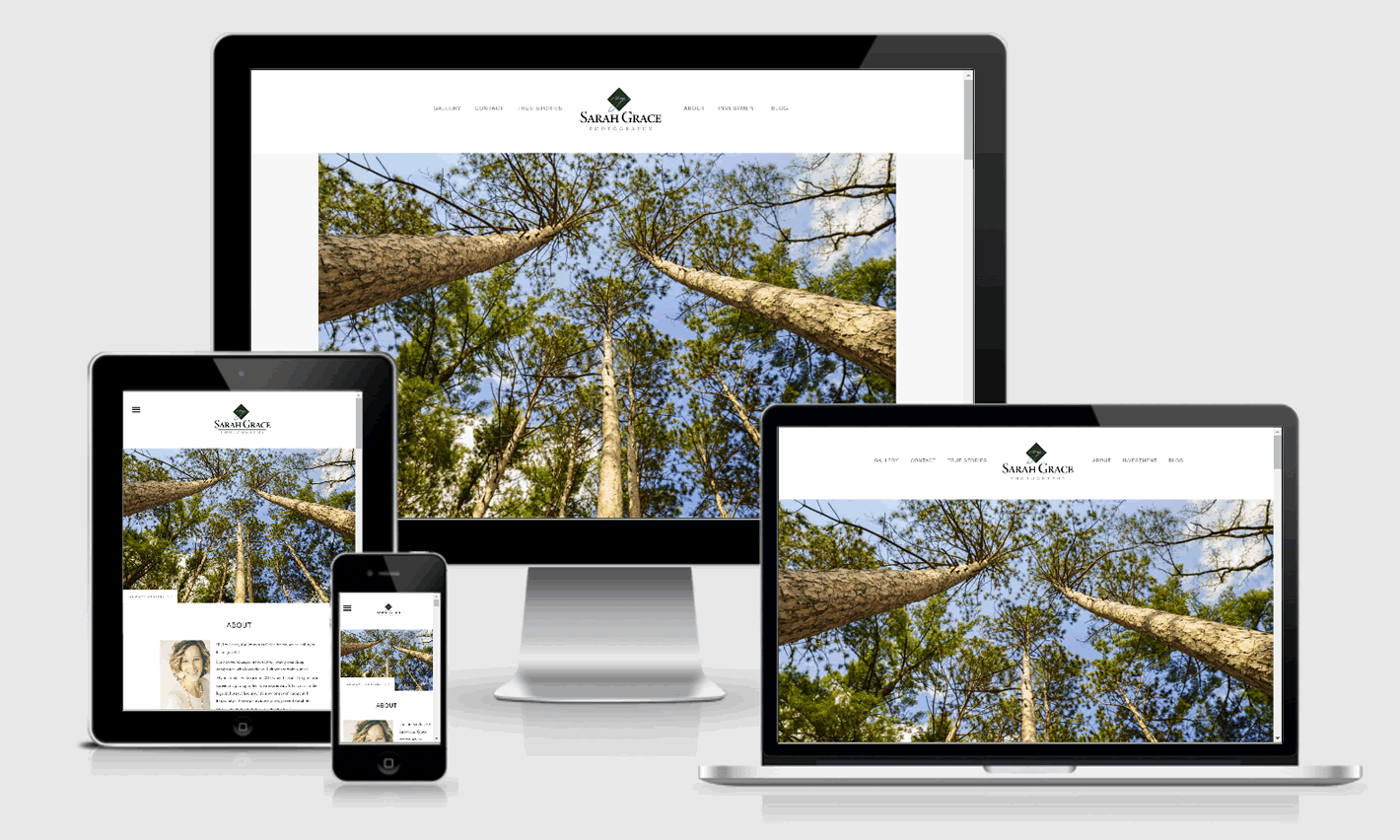Sarah Grace Photography Responsive Website Design