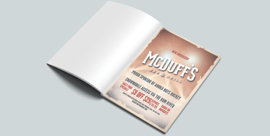 McDuff's Bar & Grill Magazine Advertisement