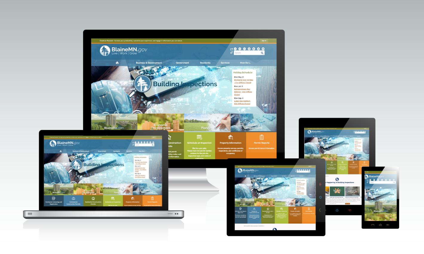 Blaine Building Inspections Responsive Website Design