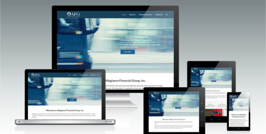 Allegiance Financial Group, Inc. Responsive Website Design