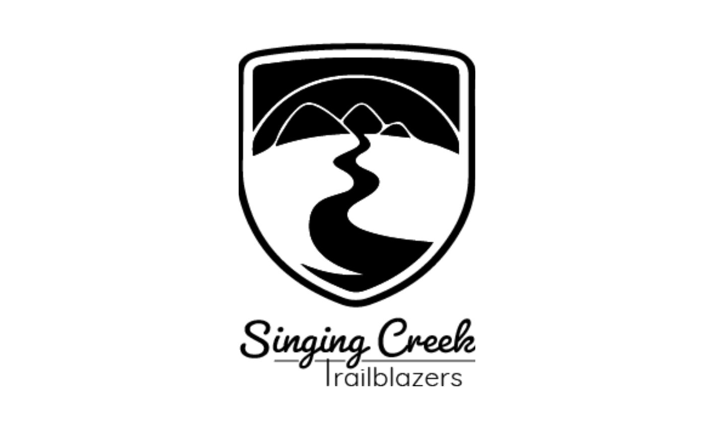 Singing Creek Trailblazers Logo Black
