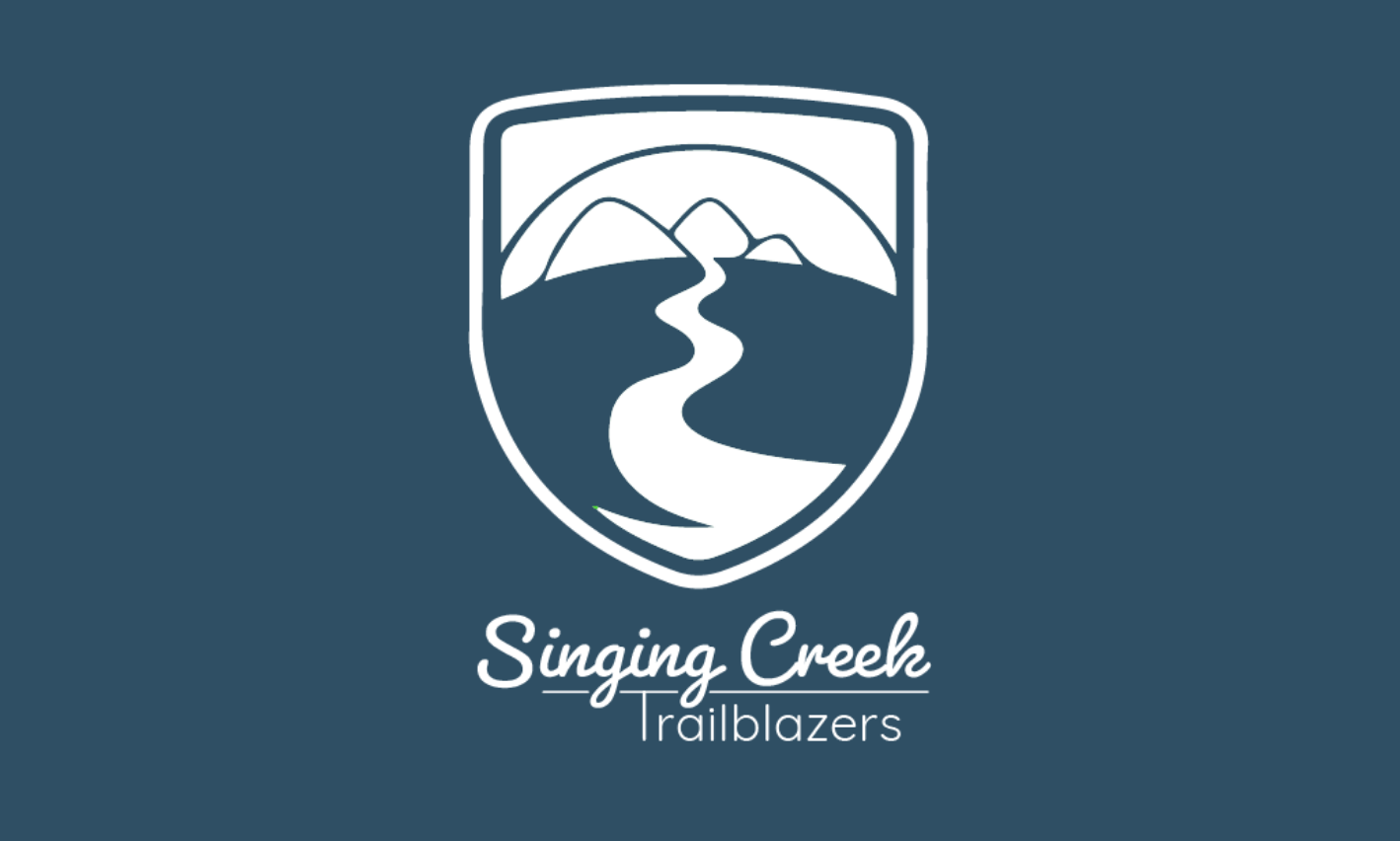 Singing Creek Trailblazers Logo White