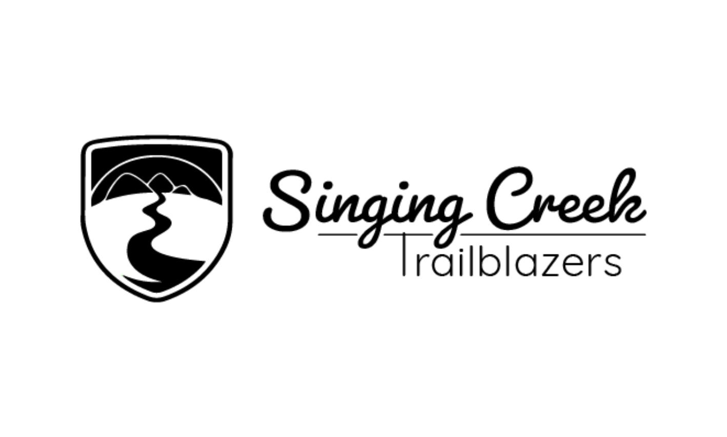 Singing Creek Trailblazers Logo Horizontal Black