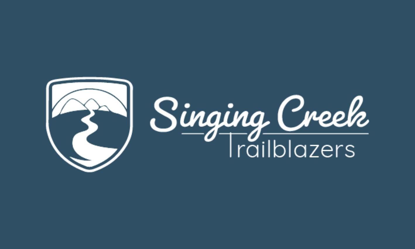 Singing Creek Trailblazers Logo Horizontal White