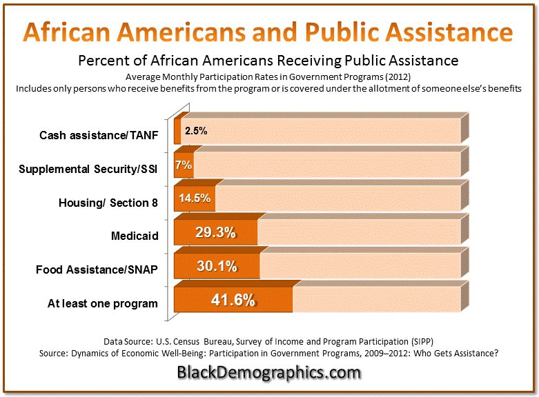 2012 African American Public Assistance Chart