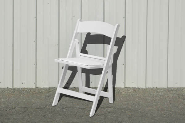 CHAIRS WHITE PADDED SEAT