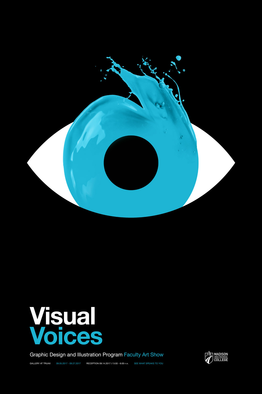 Visual Voices Poster - Blue