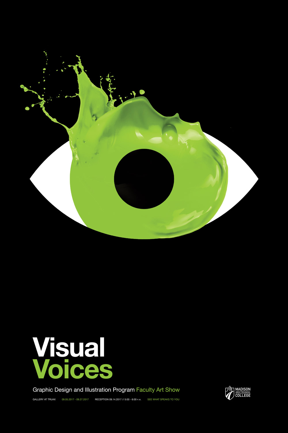 Visual Voices Poster - Green