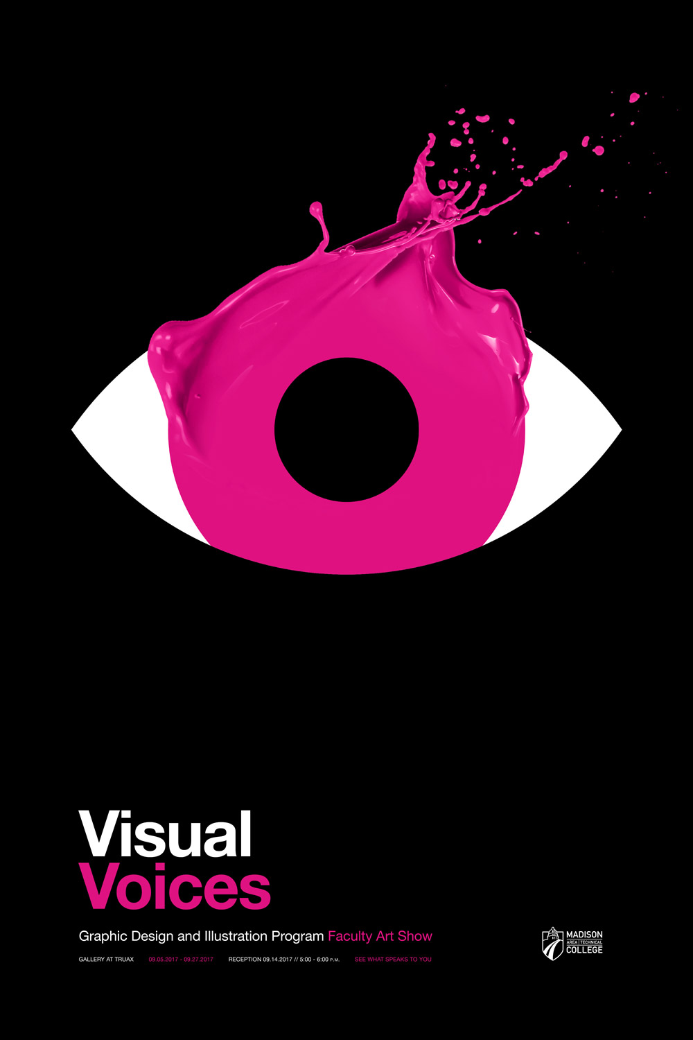 Visual Voices Poster - Pink