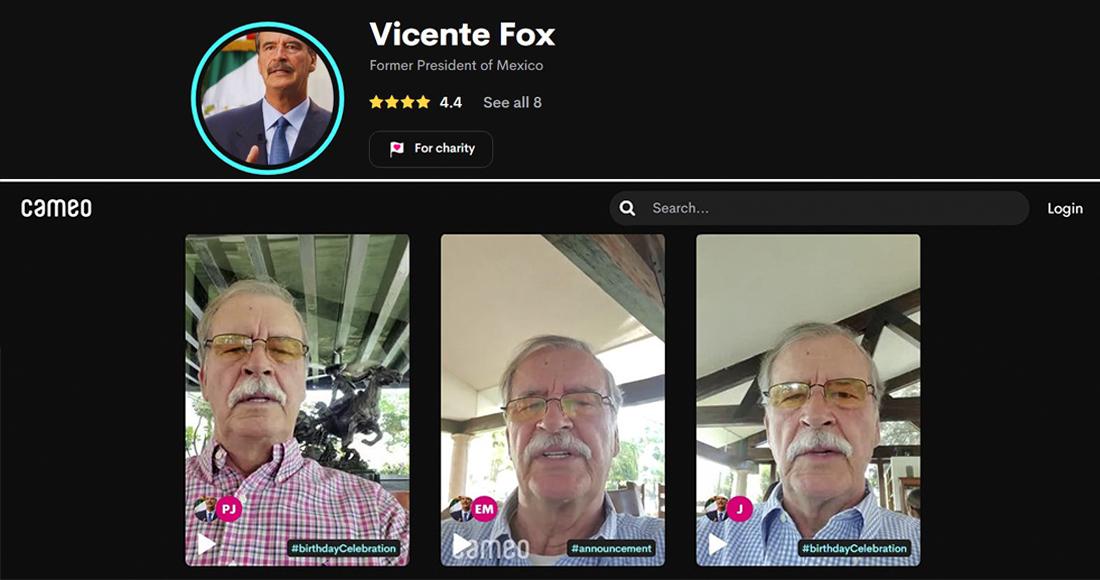 Por 5 mil pesos puedes pedir una felicitación a Vicente Fox, el expresidente que «vive al día»