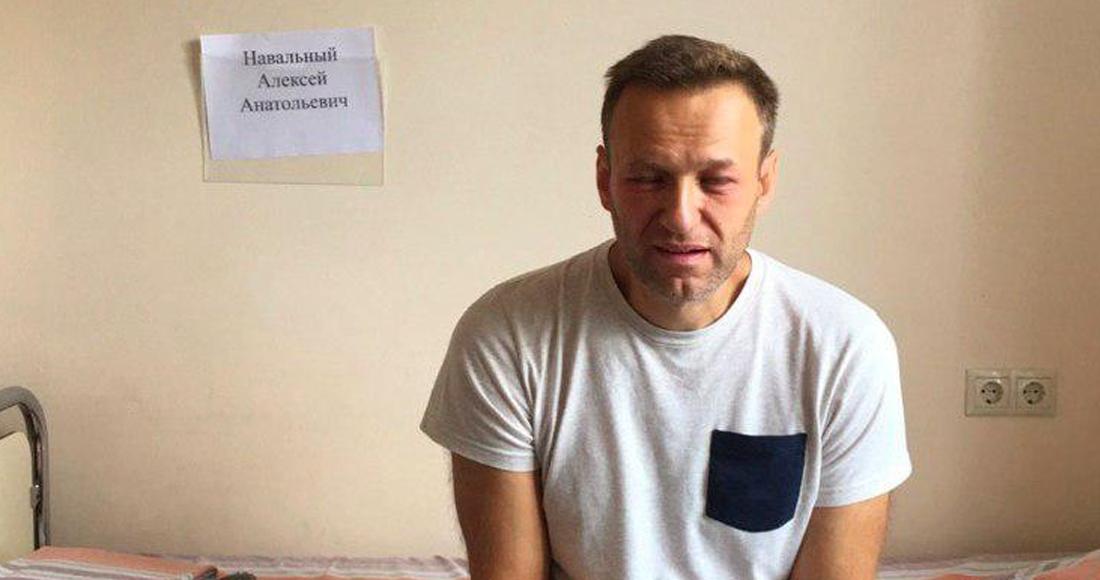 Alexéi Navalni, opositor al Gobierno de Rusia, se encuentra en como por supuesto envenenamiento