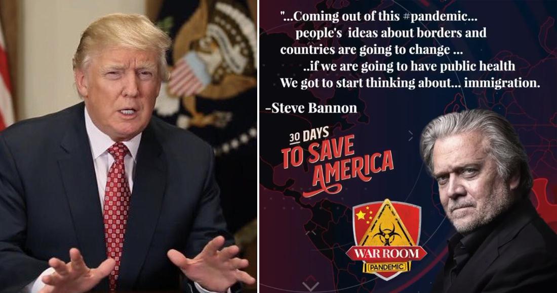 Steve Bannon, exasesor de Donald Trump, fue arrestado por fraude en campaña para construir el Muro