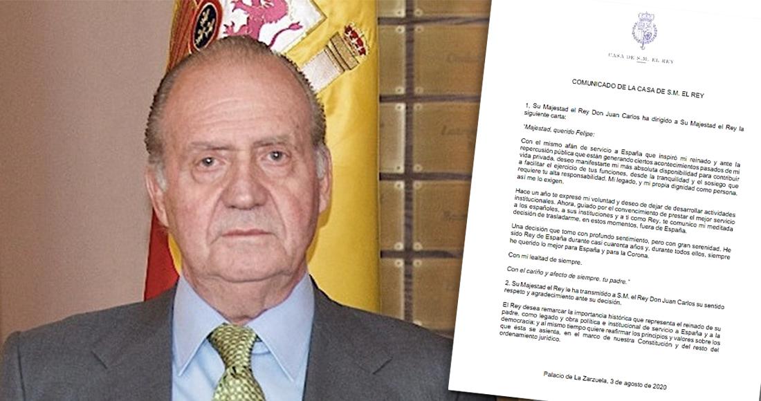 Juan Carlos I  abandona España con investigación a cuestas por blanqueo y defraudación fiscal