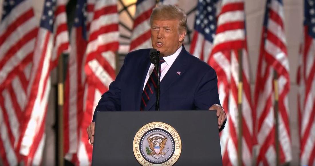 Donald Trump acepta la candidatura republicana para contender contra Joe Biden por la presidencia de EU