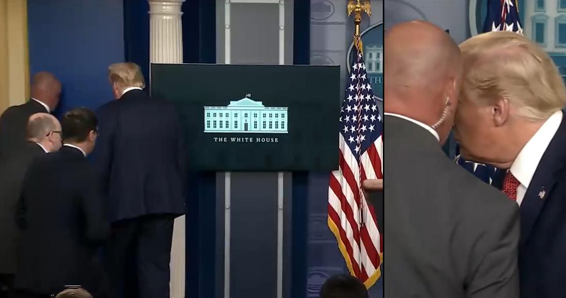 Un tiroteo en las inmediaciones de la Casa Blanca orilla a Donald Trump a interrumpir conferencia de prensa