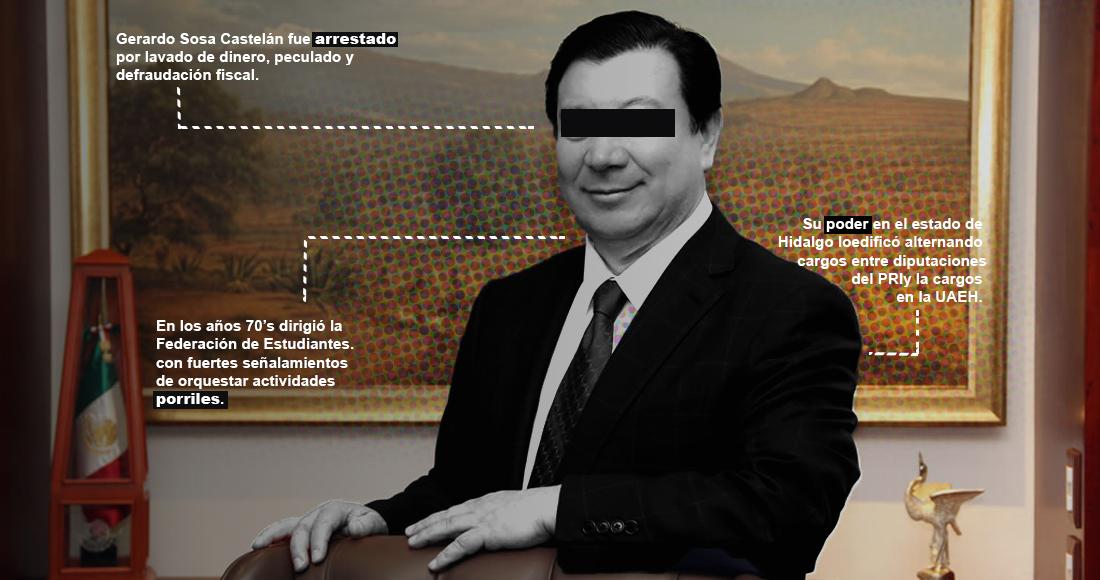 Gerardo Sosa Castelán arrestado por irregularidades en las finanzas de la UAEH tiene un pasado oscuro