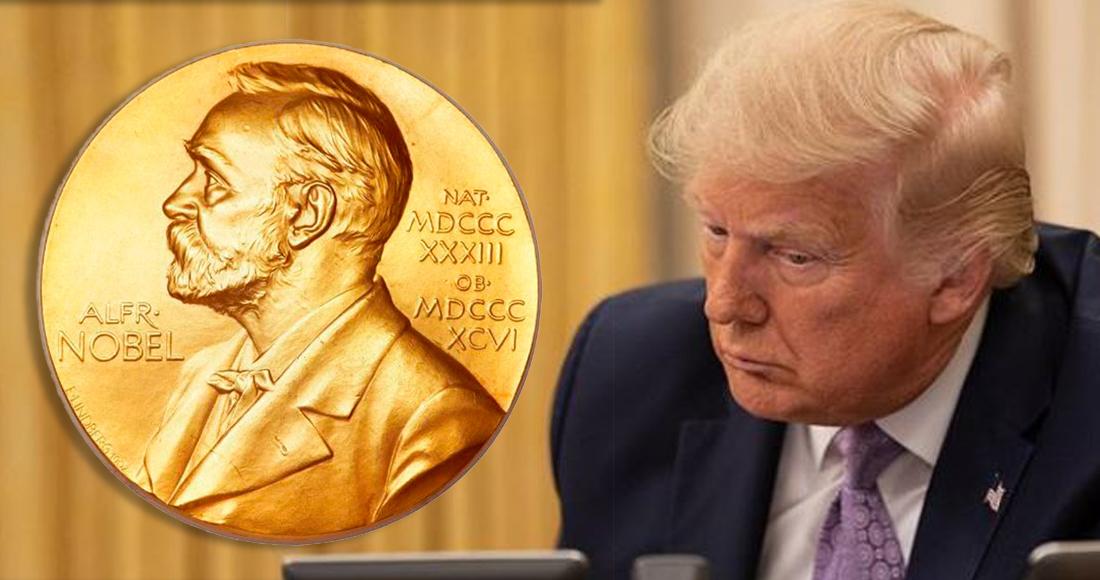 Trump es nominado por un legislador de Noruega para ganar el Premio Nobel de la Paz 2021
