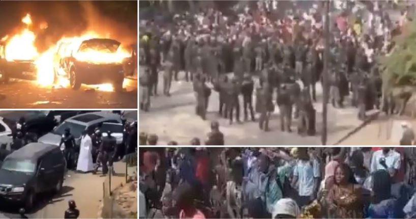 Cinco muertos y saqueos durante las protestas de Senegal por el arresto de Sonko; además de censura en Internet
