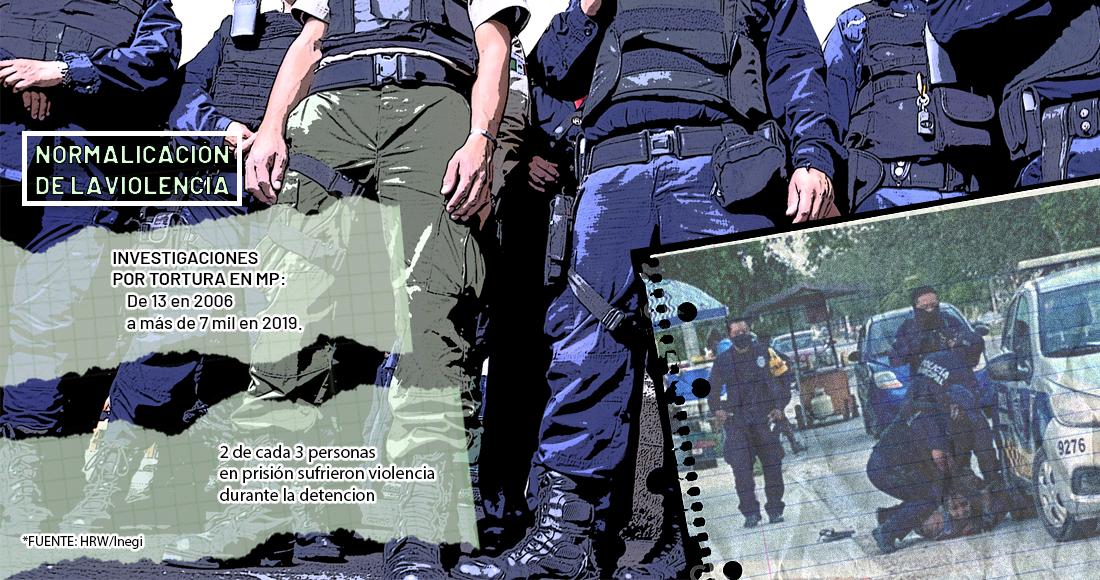 2 de cada 3 arrestos son violentos y casi nunca se investiga la brutalidad policiaca y las violaciones de DDHH