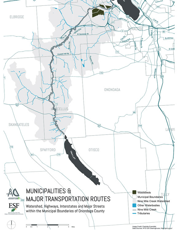 Municipalities Trans Routes Map