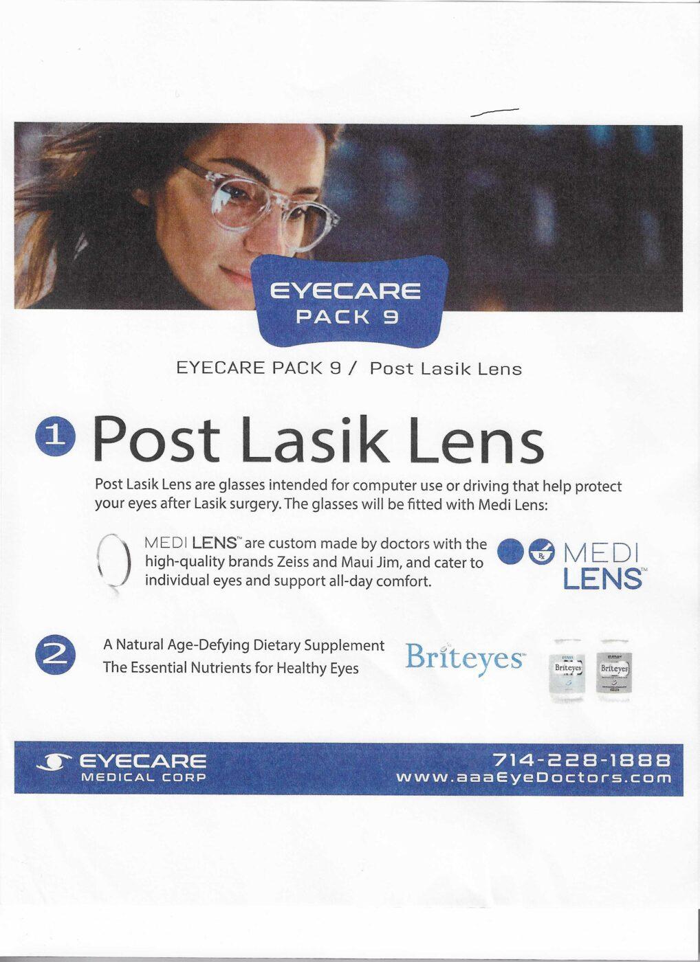 post lasik lens