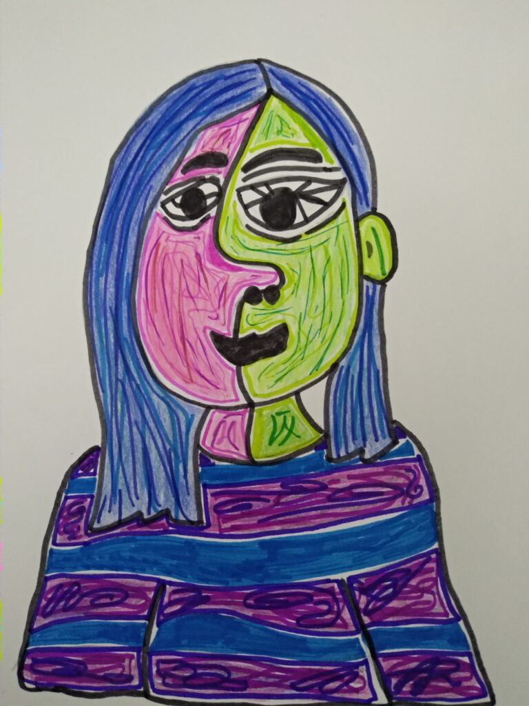 Maia B. 7th Grade, After Picasso, OA