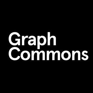 White letters on black background that say: Graph Commons