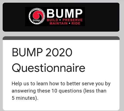 BUMP 2020 Questionnaire