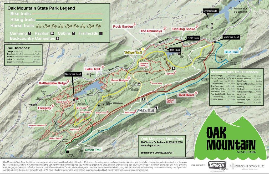 Oak Mountain trial map