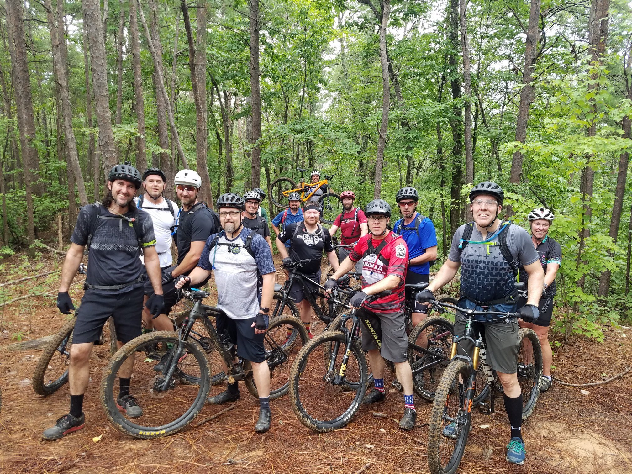 BUMP's August Ride and Chill group ride at Tannehill