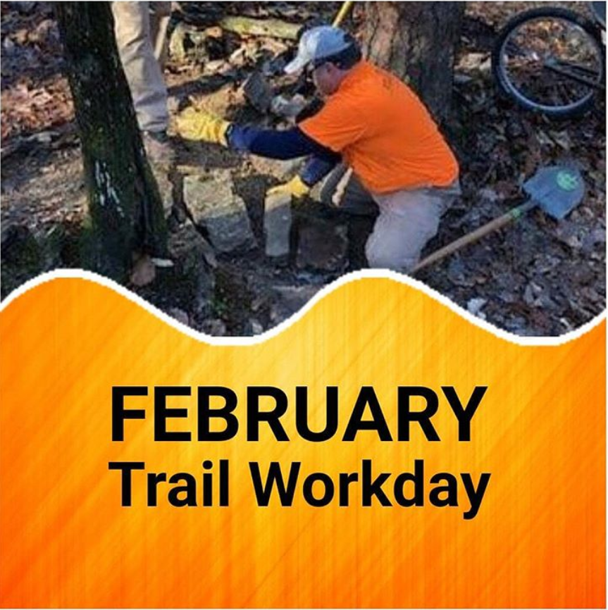 February Trail Workday at Oak Mountain