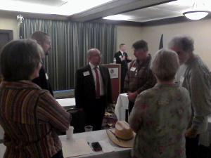 Members participate in county caucuses