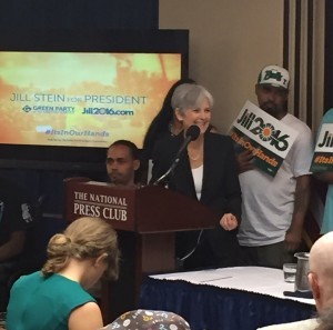 Stein taking questions from reporters.