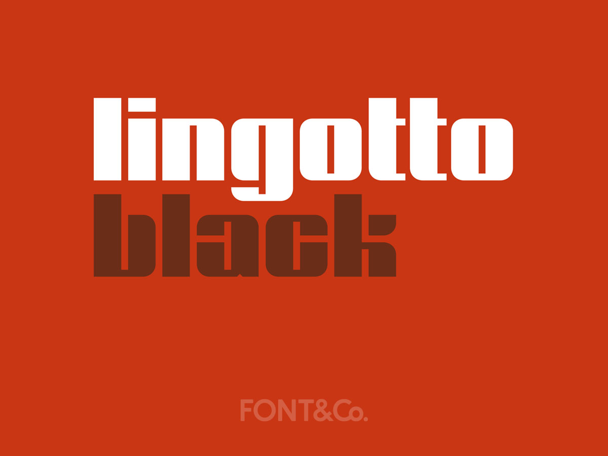 Font&Co. Lingotto Black