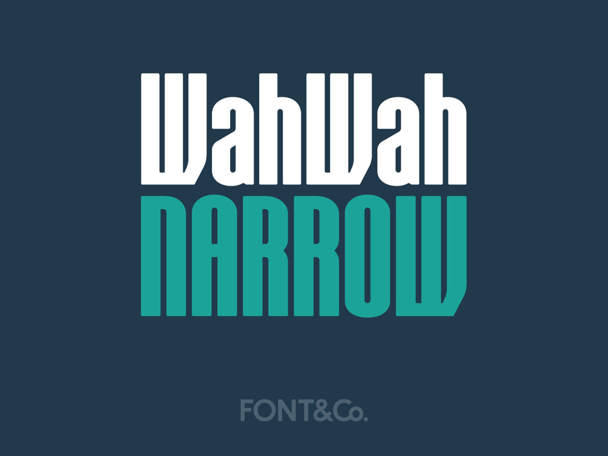 Font&Co. WahWah Narrow