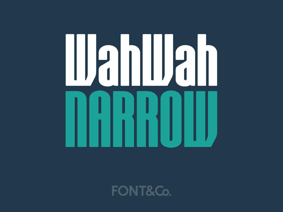 Font&Co. WahWah Narrow